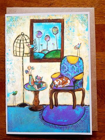 Naptime....5 x 7. Greeting Card