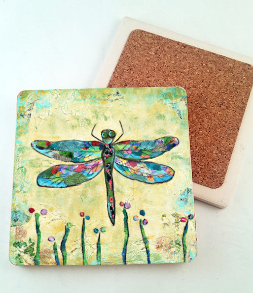 Dragonfly.. absorbant stone coaster