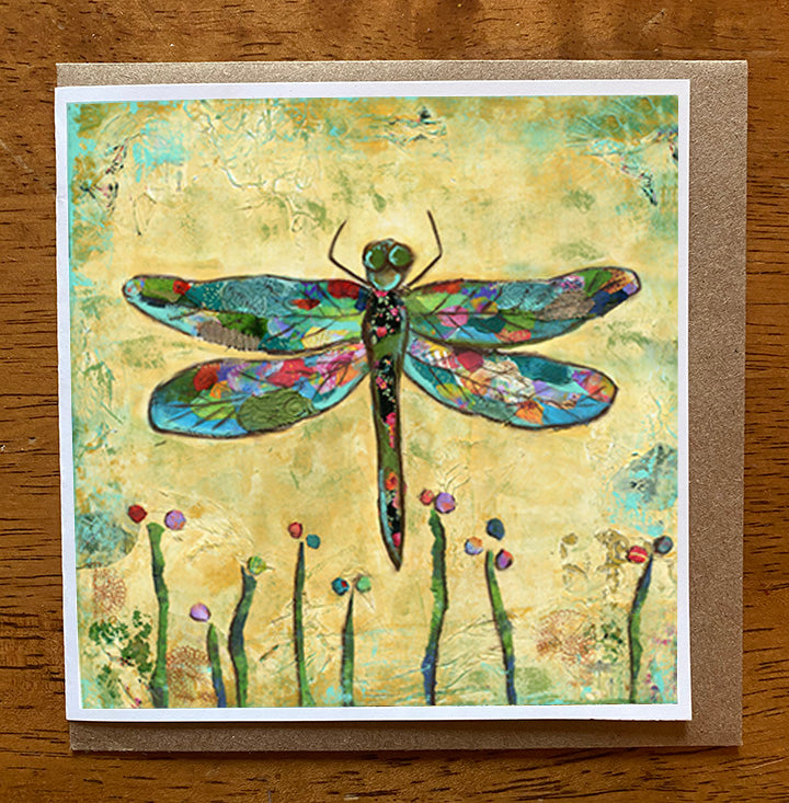 Dragonfly...... 5 x 5 greeting card