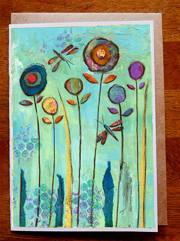 Dragonfly Dance.......5 x 7. Greeting Card