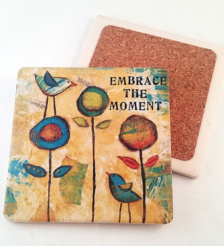 Embrace.. absorbant stone coaster