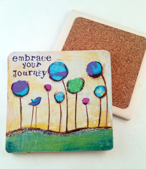 Embrace Your Journey... absorbant stone coaster