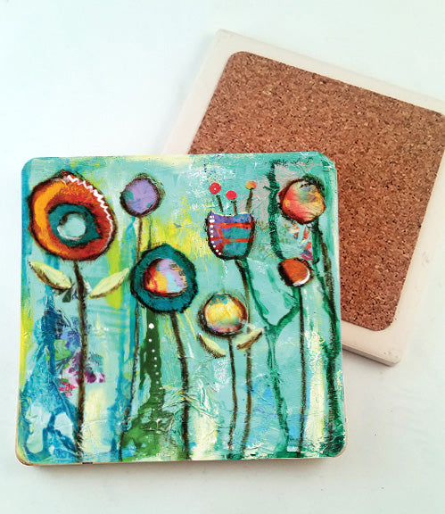 Garden Song... absorbant stone coaster