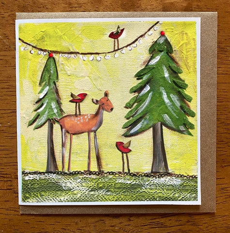 Forrest Friends  5 x 5 card with envelope