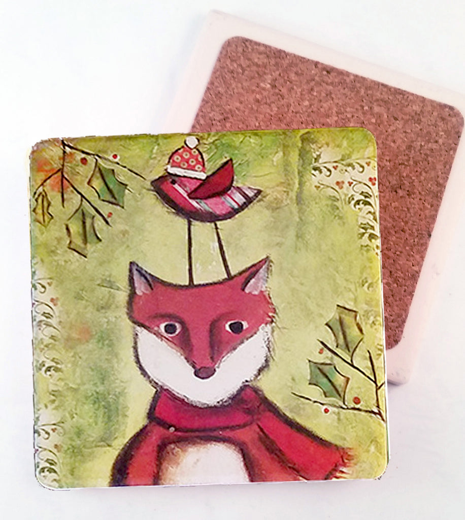 Fox...Absorbant Stone Coaster