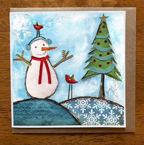 Frosty...  5 x 5 card with envelope