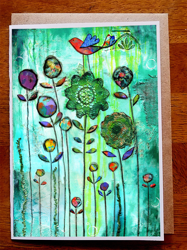 Grandmas Garden.. Greeting Card