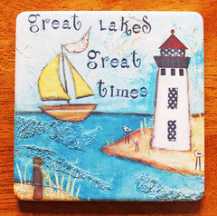 Great Lakes.. absorbant stone coaster