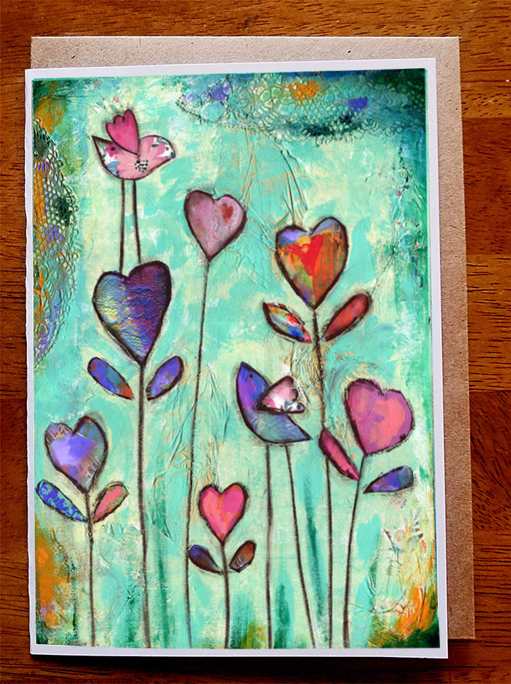 Heart Garden II.... Greeting Card
