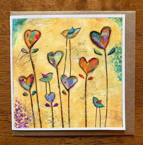 Heart Garden.. 5 x 5 greeting card