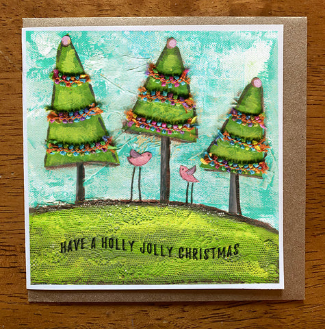 Holly Jolly Christmas  5 x 5 card with envelope