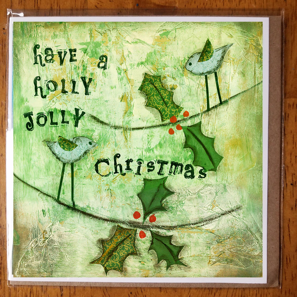 Holly Jolly 5 x 5 card with envelope