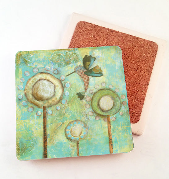 Hummingbird... absorbant stone coaster