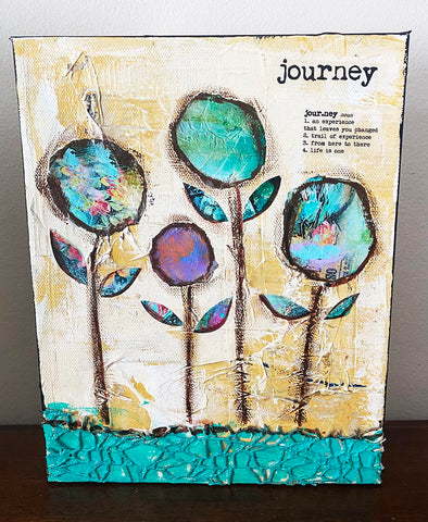 "Journey 8"" x 10"" mixed Media Original Painting"