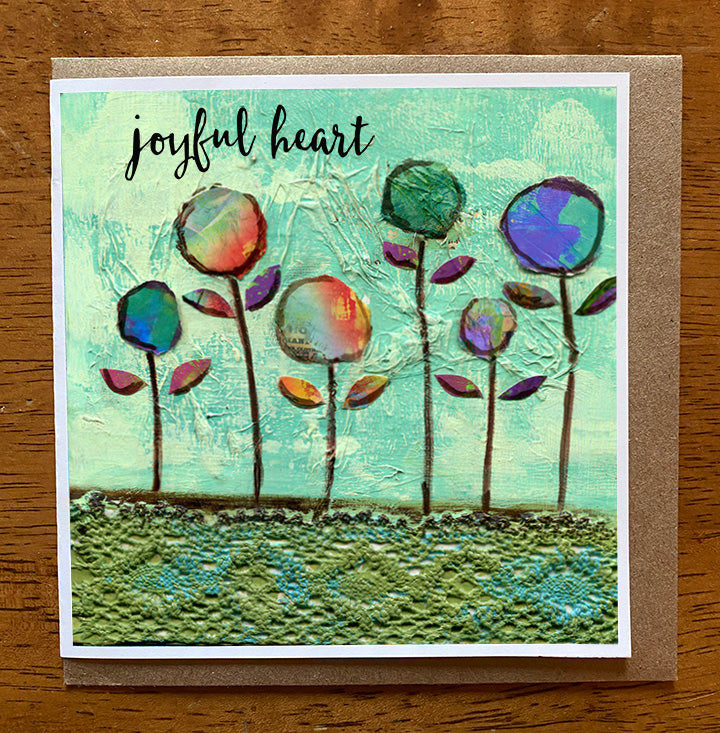 Joyful Heart II.... 5 x 5 greeting card