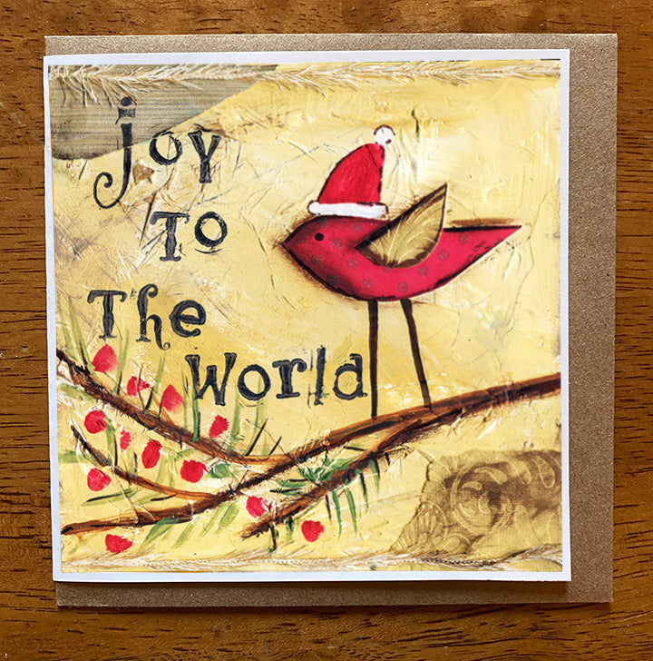 Joy to the World 5 x 5 card with envelope
