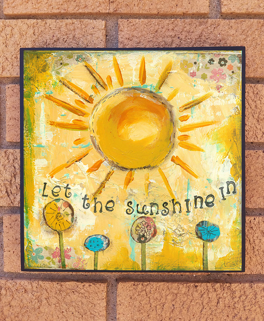 Let the Sunshine In.. wood block print