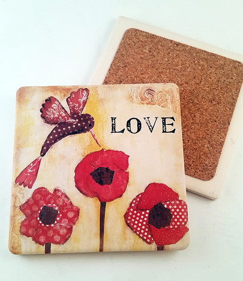 Love... absorbant stone coaster