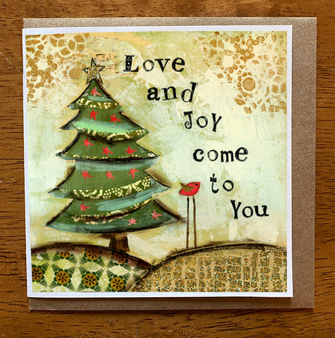 Love and Joy 5 x 5 card with envelope