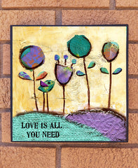 Love is all you Need.... wood block print