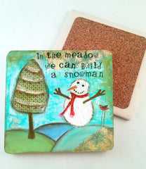 In the Meadow..Absorbant Stone Coaster