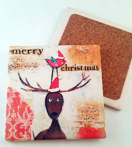 Merry Christmas..Absorbant Stone Coaster