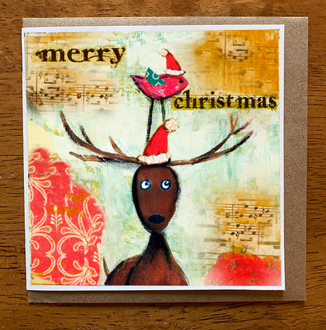 Merry Christmas 5 x 5 card with envelope
