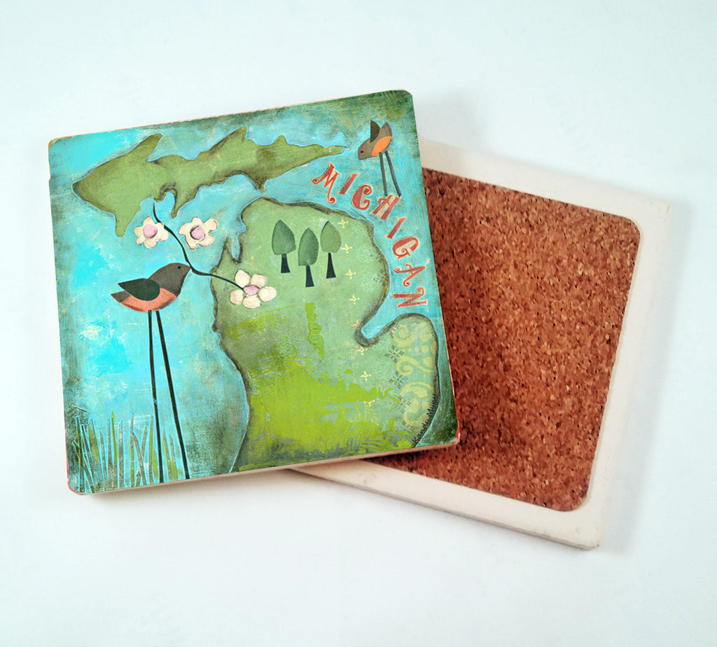 Michigan.... absorbant stone coaster