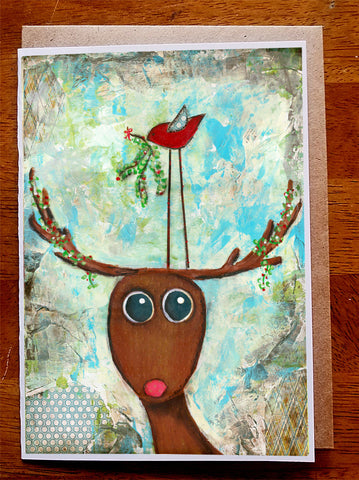 Mistletoe....5 x 7 card with envelope