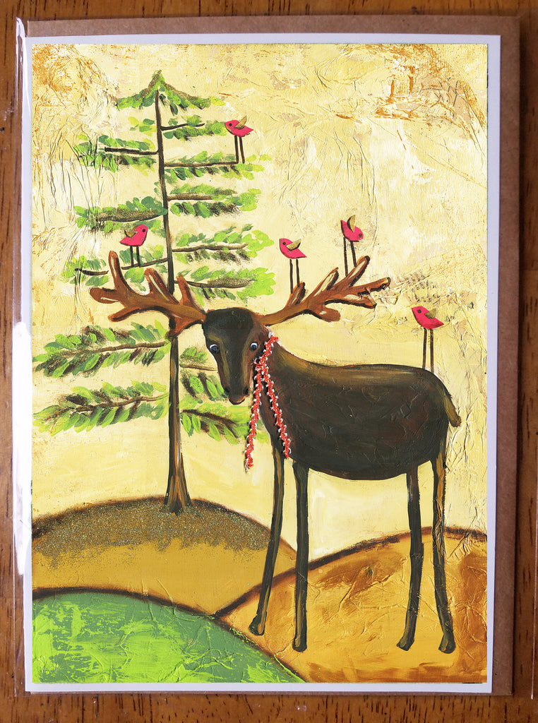 Moose  5 x 7 card with envelope