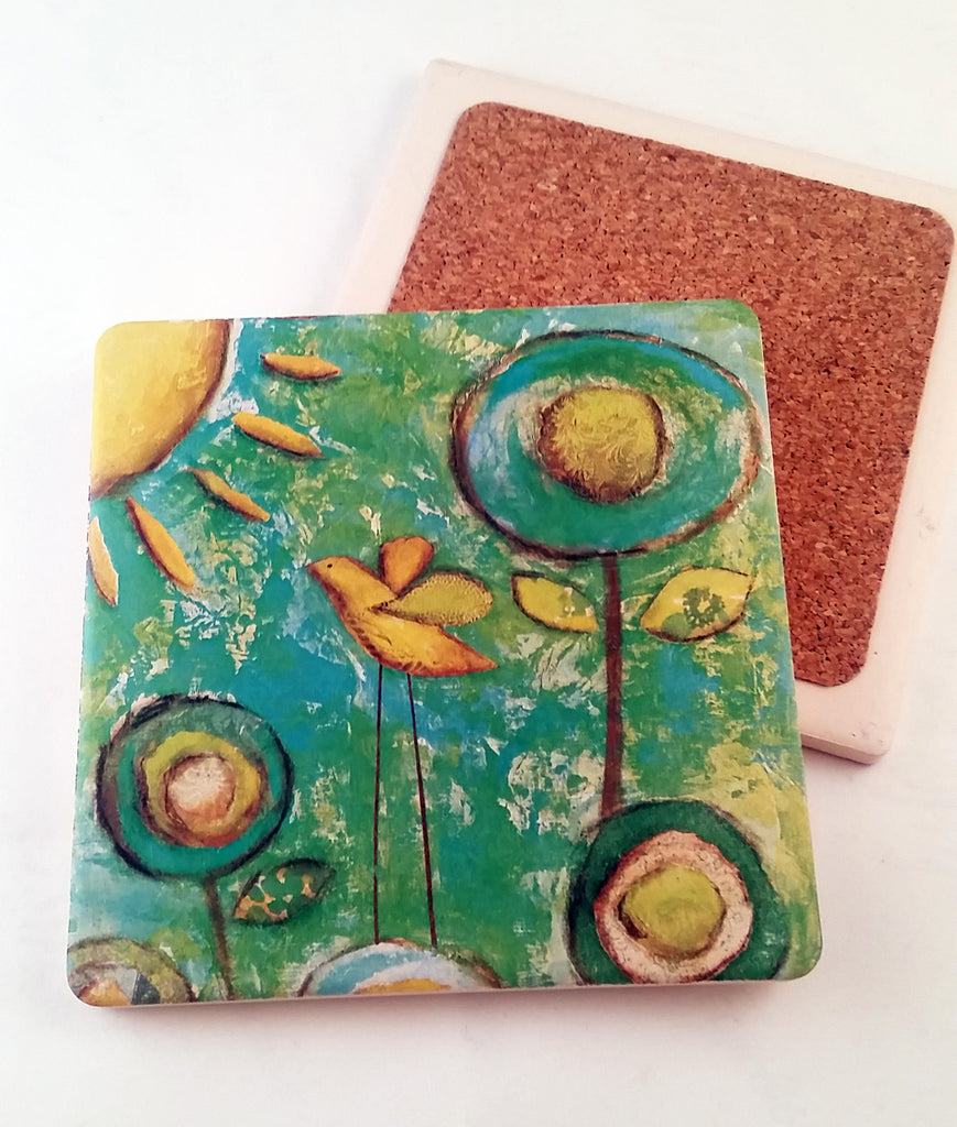 Morning Glory... absorbant stone coaster