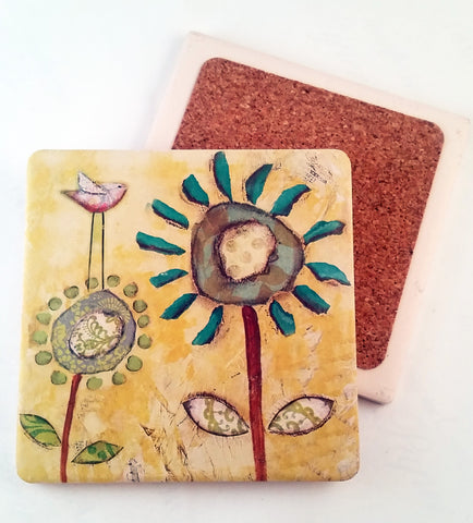 Sunshine Morning... absorbant stone coaster