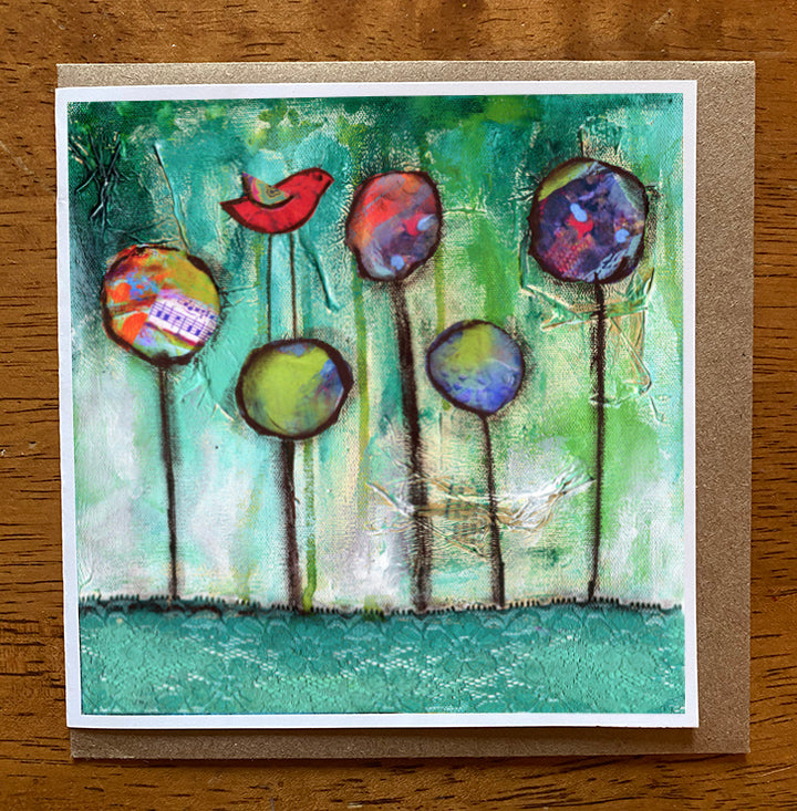 Music in the Air.. 5 x 5 greeting card