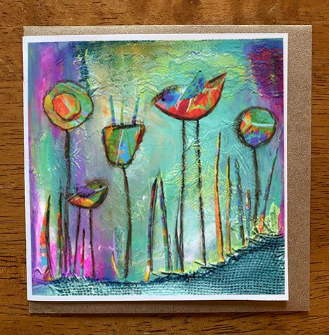 Mystic Morning.. 5 x 5 greeting card