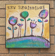 New Beginnings... wood block print