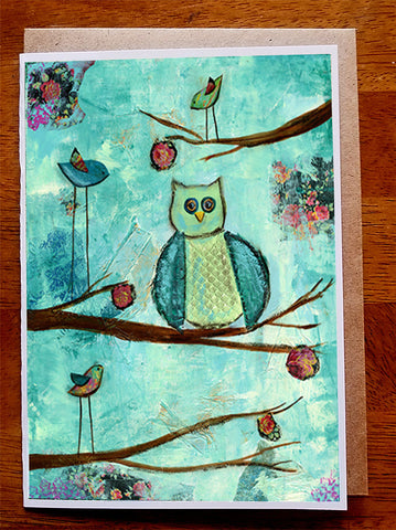 Owl And friends.. Greeting Card