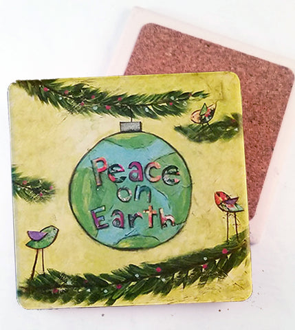 Peace..Absorbant Stone Coaster