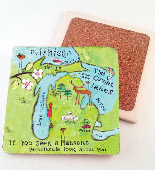 Pleasant Peninsula..... absorbant stone coaster