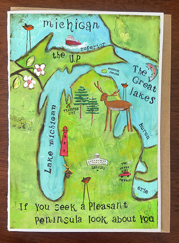 Pleasant Peninsula Greeting Card