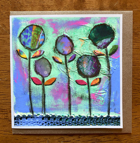 Purple Passion. 5 x 5 greeting card