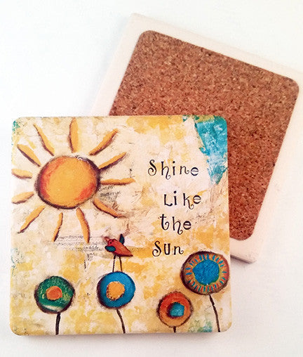 Shine Like the Sun... absorbant stone coaster