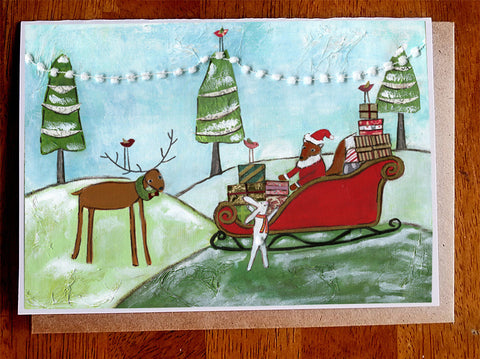 Sleigh Ride.... 5 x 7 card with envelope