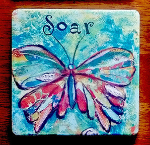 Soar... absorbant stone coaster
