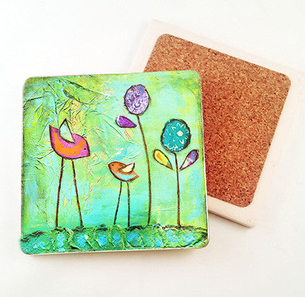 Be Brave.. absorbant stone coaster