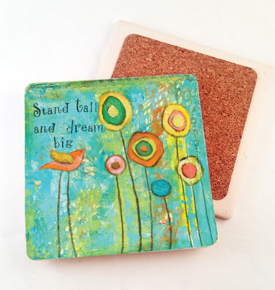 Stand tall... absorbant stone coaster