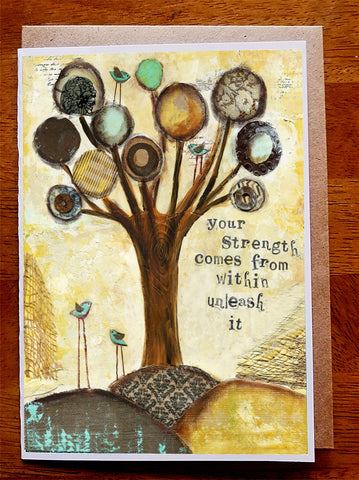 Strength...5 x 7  Greeting Card