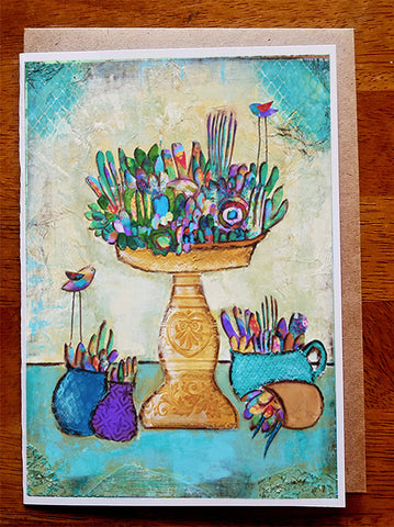 Succulent Garden ..... 5 x 7 Greeting Card