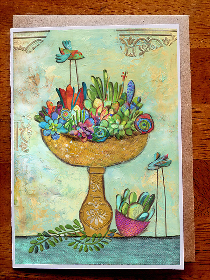 Cactus garden ..... 5 x 7 Greeting Card