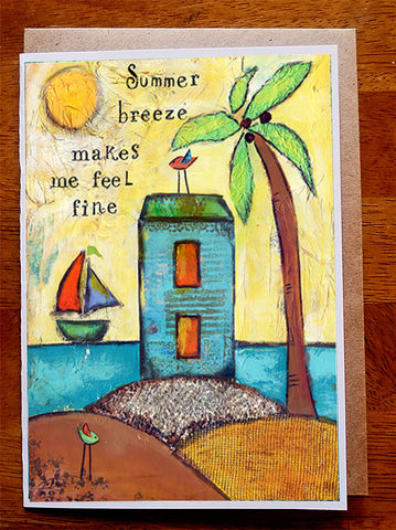 Summer Breeze....5 x 7  Greeting Card