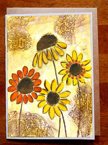 Sunflowers...... Greeting Card